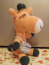 Amigurumi Giraffa arancione e verde