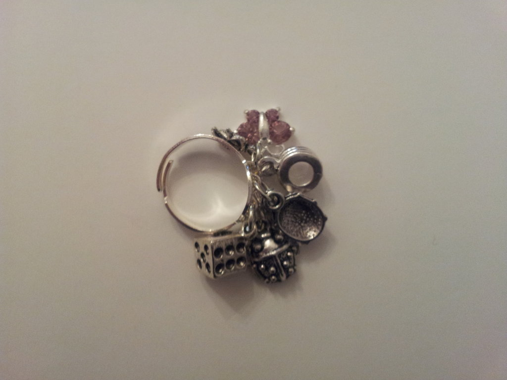 anello argento 925 charm