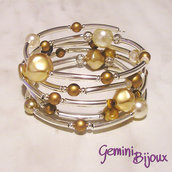 Bracciale rigido armonico gold mix