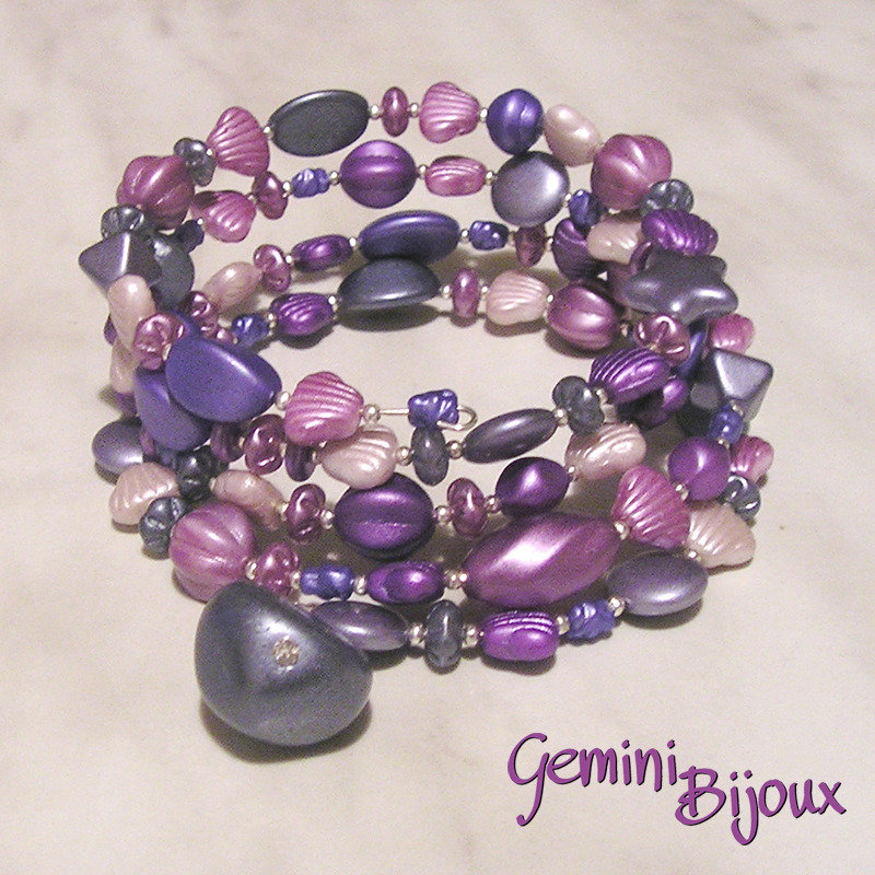 Bracciale armonico Purple mix