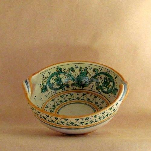 Oggetti Ceramica Di Caltagirone.Ceramiche Di Caltagirone Ciotola Con Manici Per La Casa E Per T