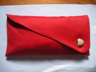 Astuccio rosso-bottone