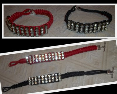 BRACCIALE CO 4 FILE DI STRASS