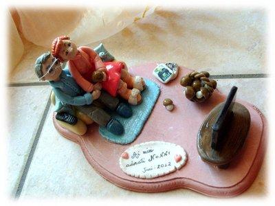 Statuina cake topper Nonni