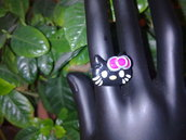 anello hello kitty nera