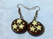 orecchini pan di stelle pendenti