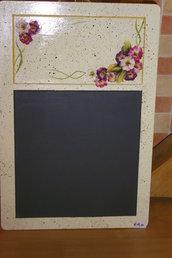 lavagnetta con fiori