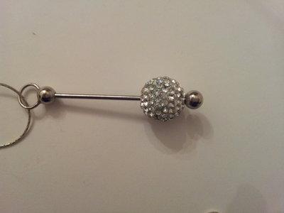 collana argento 925 pendente palla strass
