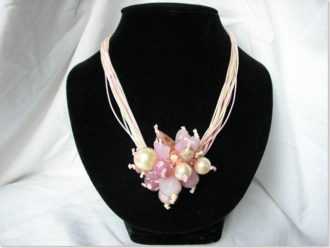 Collana Pon Pon rosa