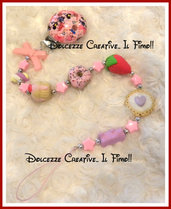 ★★SALDI Portaciuccio Baby -femminuccia- Caramelle gommose, cookie,donut, cupcake, fragola