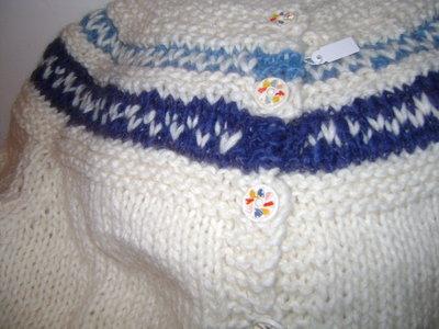 giacca in pura lana con motivi norvegesi