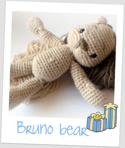 Bruno Bear jr amigurumi pdf pattern english and italiano