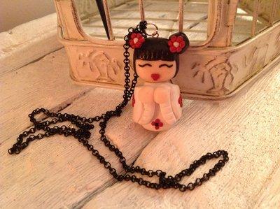 Collana Kokeshi bambole pendenti fimo