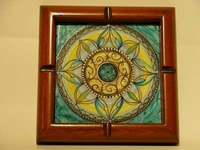 posacenere ashtray mandala dipinto a mano