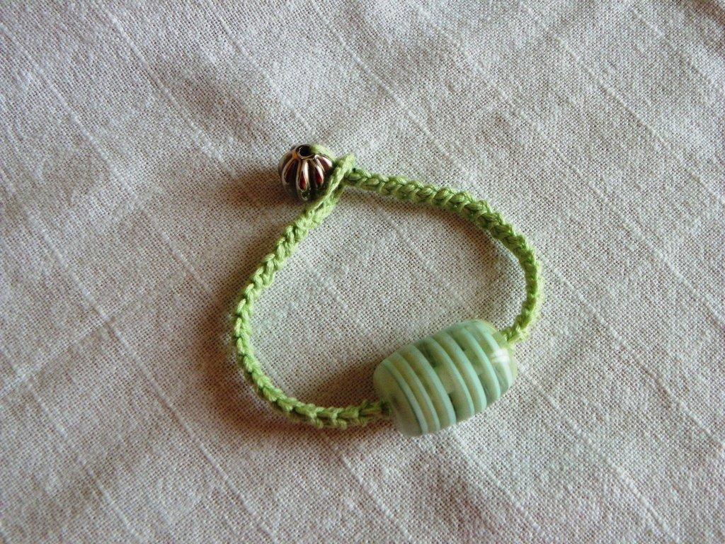 braccialetto in cotone verde