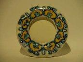portafoto ceramica indian style