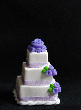 Mini Wedding Cake 3 piani Segnaposto Lilla / Viola