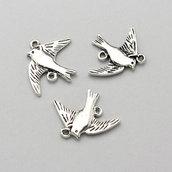 3 connettori - charm color argento