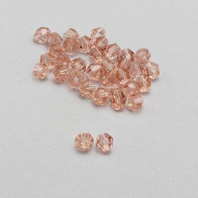 20 cristalli bicono rosa pesca