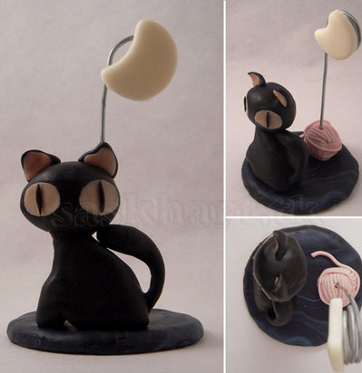 portafoto gatto nero