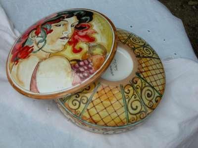 mucha liberty portagioie ceramica
