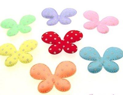 Applicazioni in stoffa farfalle
