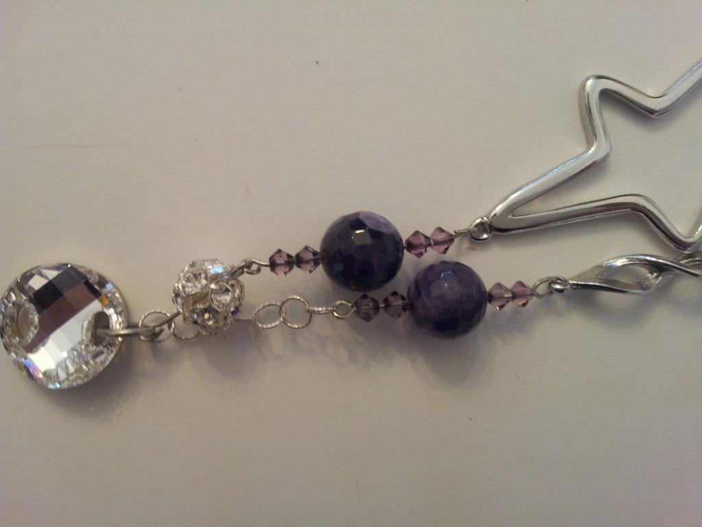 collana twin set swarovsky e perle e strass argento 925