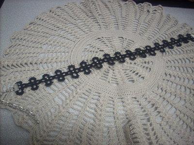 Collana nera Girocollo in cotone pizzo chiacchierino idea regalo