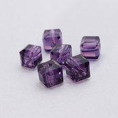 4 cristalli cubo 6mm ametista