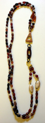 Collana marrone a 2 fili - Brownish