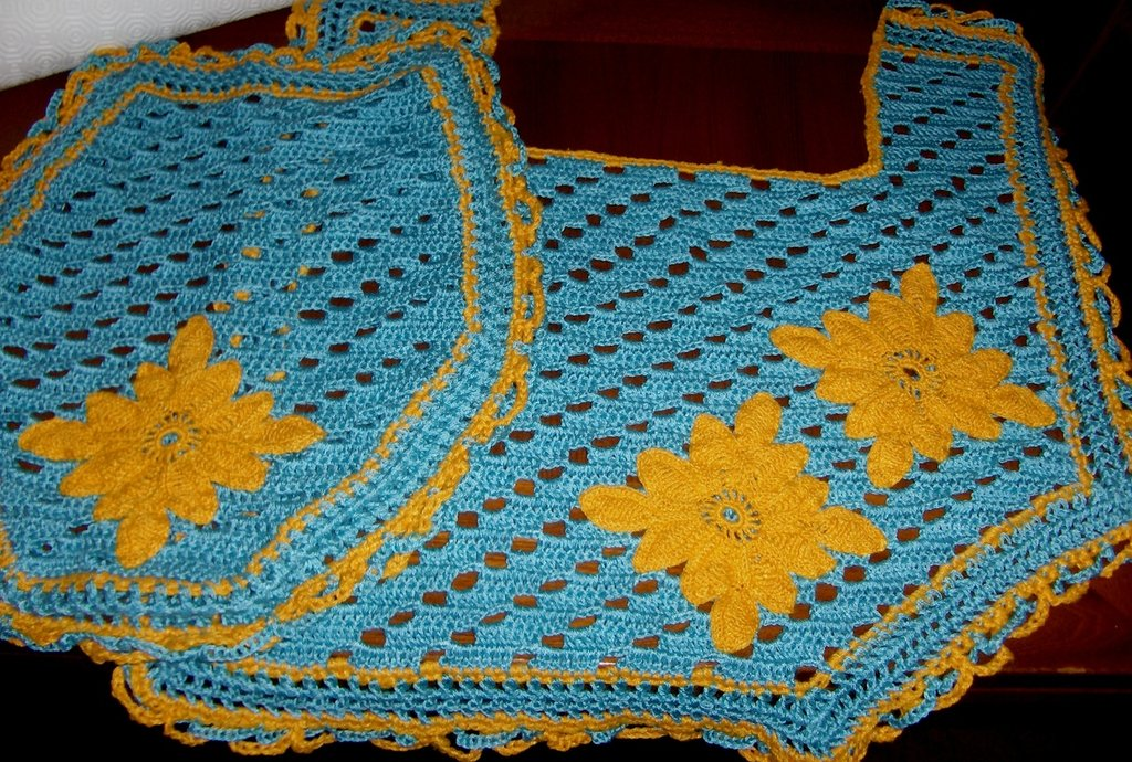 Completo bagno tappetino e copri-water a uncinetto