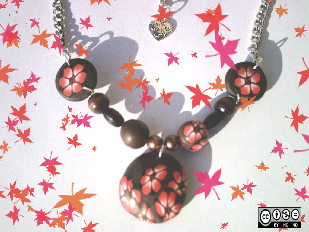 "Collana ""Red flower"""