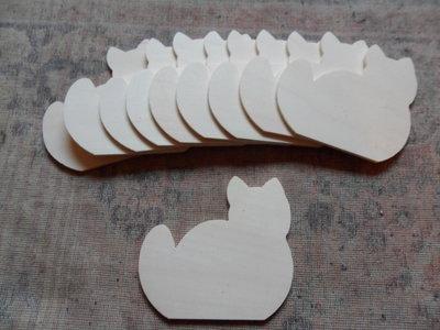 Lotto 10 gatti in legno