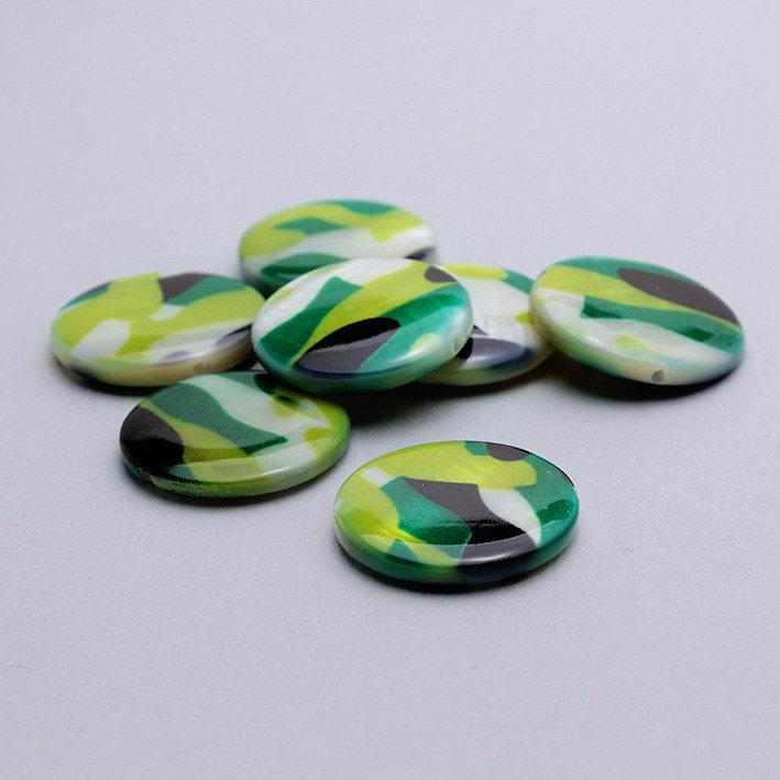 4 dischi conchiglia - madreperla camouflage