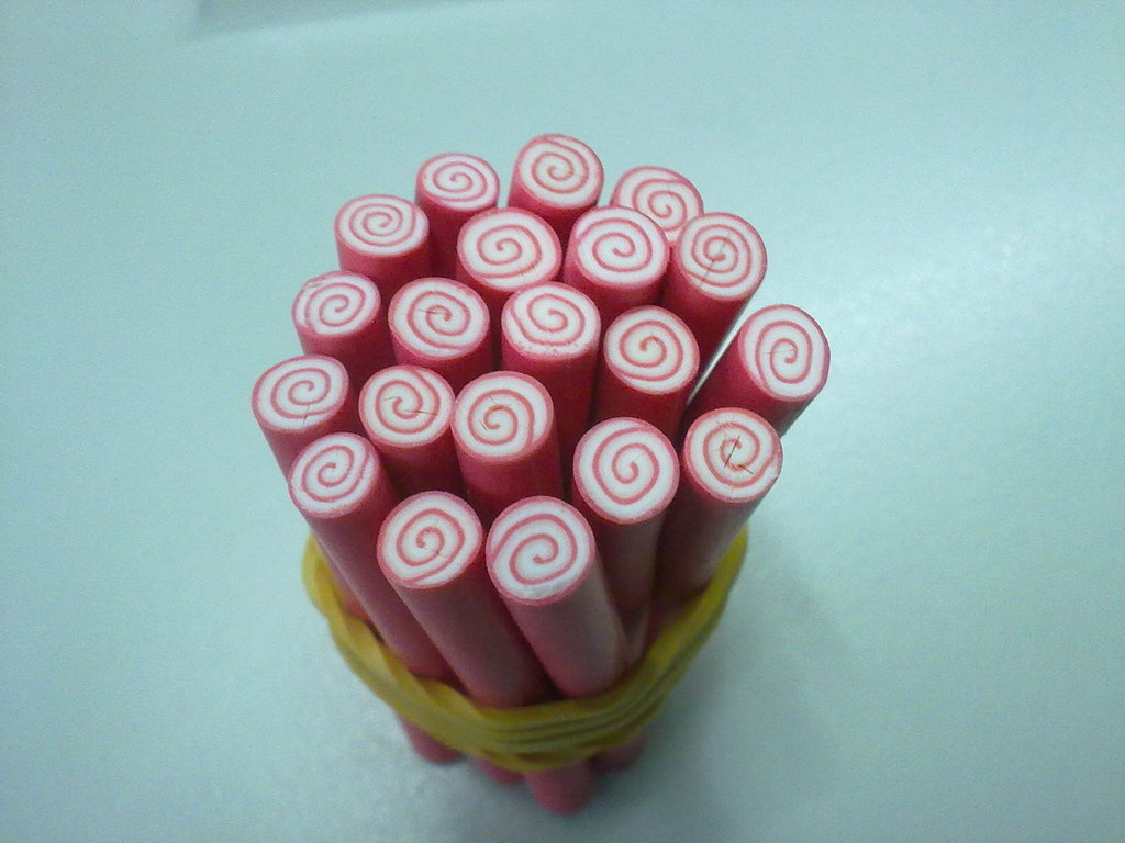 Canes in fimo lollipop