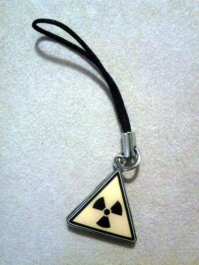 Phonestrap con pericolo radioattivo fimo