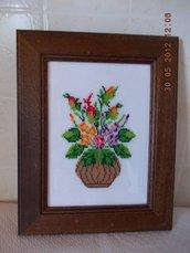 Quadro con vaso rot. e fiori