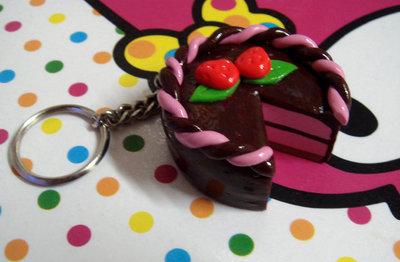 Portachiavi torta al cioccolato