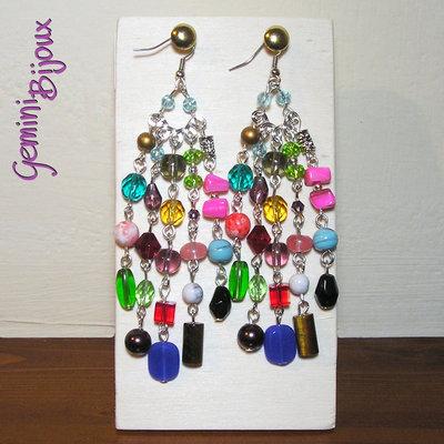 Orecchini Chandelier Multicolor