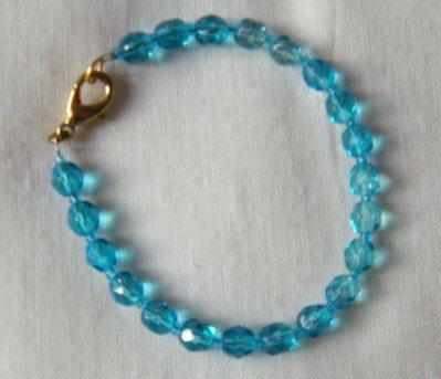 bracciale in mezzo cristallo azzurro
