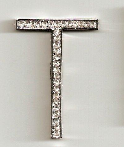 bellissimo ciondolo lettera in argento 925 e strass swarovski