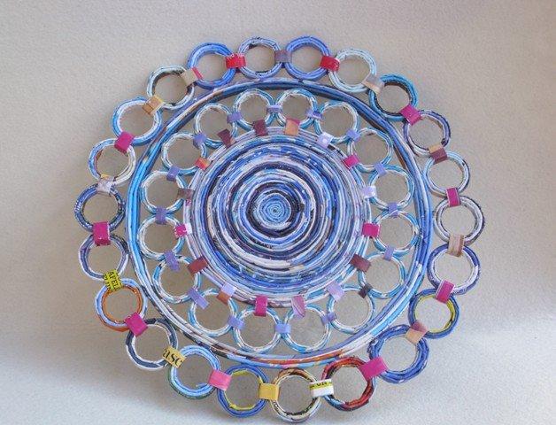 Sottopiatto Tovaglietta Ecologico rotondo decorato in carta riciclata 30cm