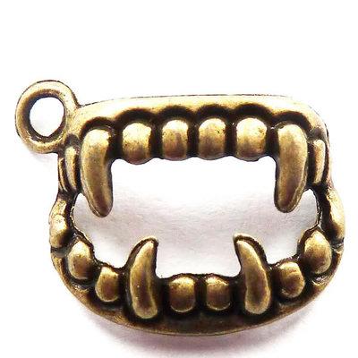 Charms denti color bronzo