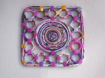 Sottopentola Ecologico Quadrato in carta riciclata 18cm,