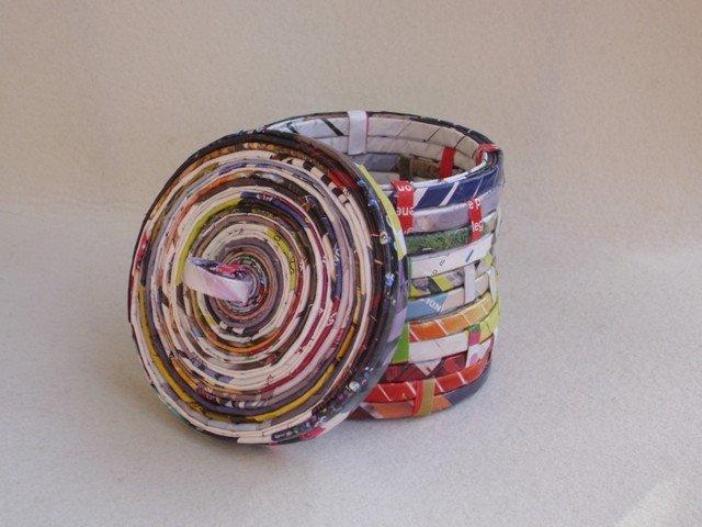 Contenitore Barattolino con coperchio Ecologico in carta riciclata 10×10cm