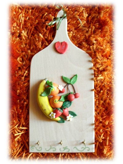 Tagliere decorato frutta- Bomboniera matrimonio anniversario