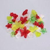 mix fiori e foglie lucite