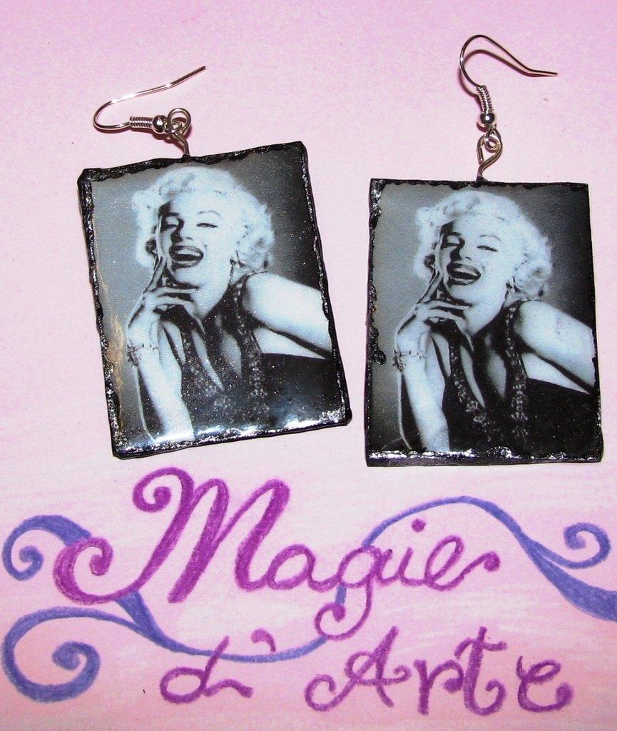 Orecchini con stampa Marilyn