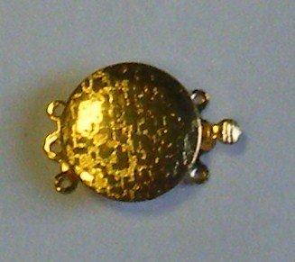 chiusura a 3 fili in metallo dorato