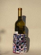 Porta bottiglie per vino, acqua ecologico in carta riciclata